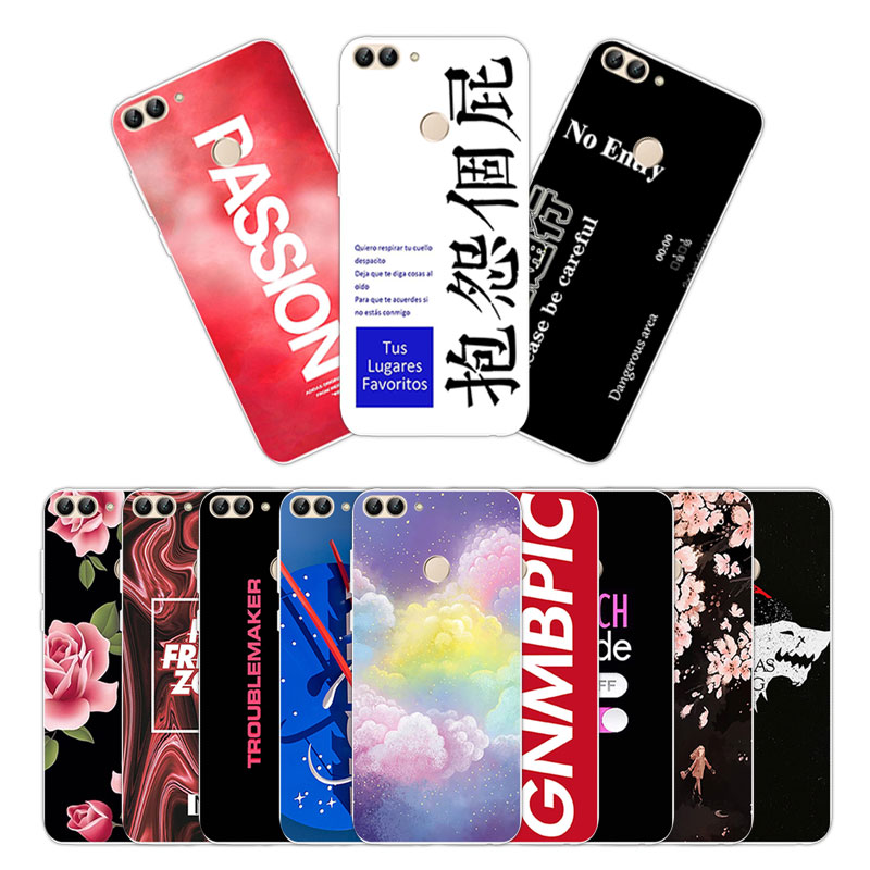 Soft TPU Silicone Case For Huawei P Smart Phone Back Cover Skins Enjoy 7S