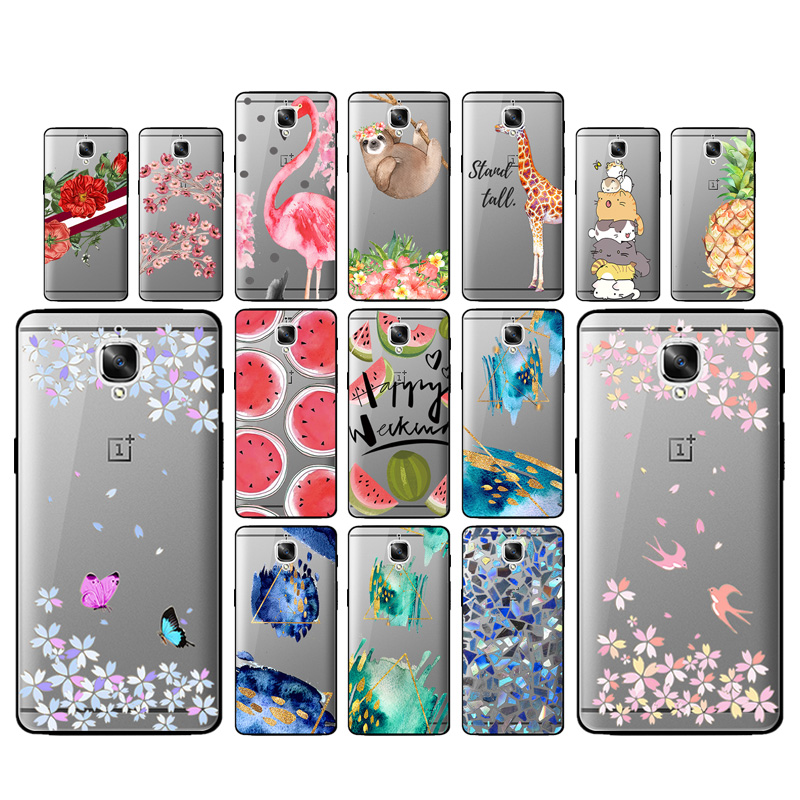 best sneakers c5c93 95fde Flower Soft TPU Silicone Case For Oneplus 2 3 3T 5 5T Protective ...