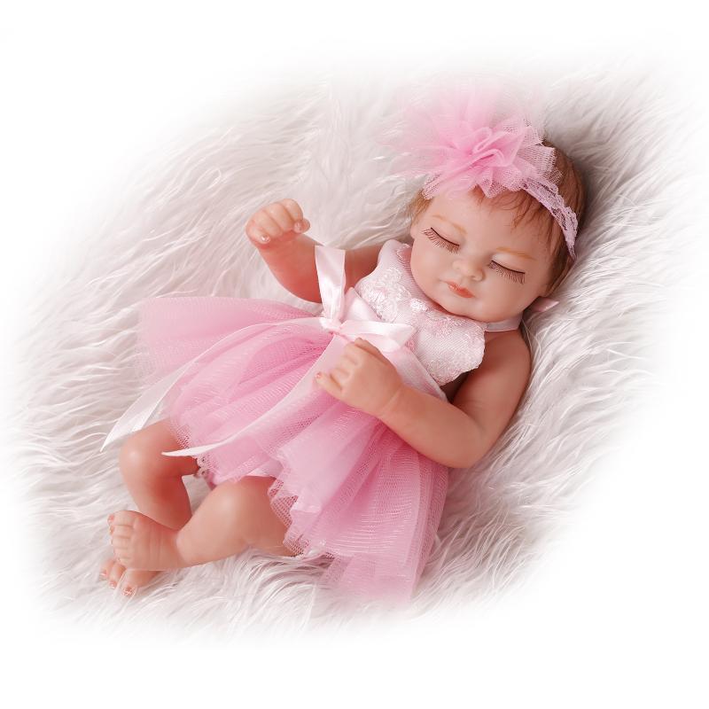 "Lifelike 10/"" 26cm Miniature Reborn Baby Doll Realistic Looking Baby Girl Dolls"