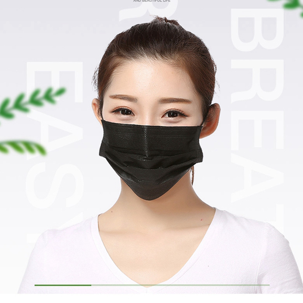 100pcs thick disposable anti-dust face mask with earloop