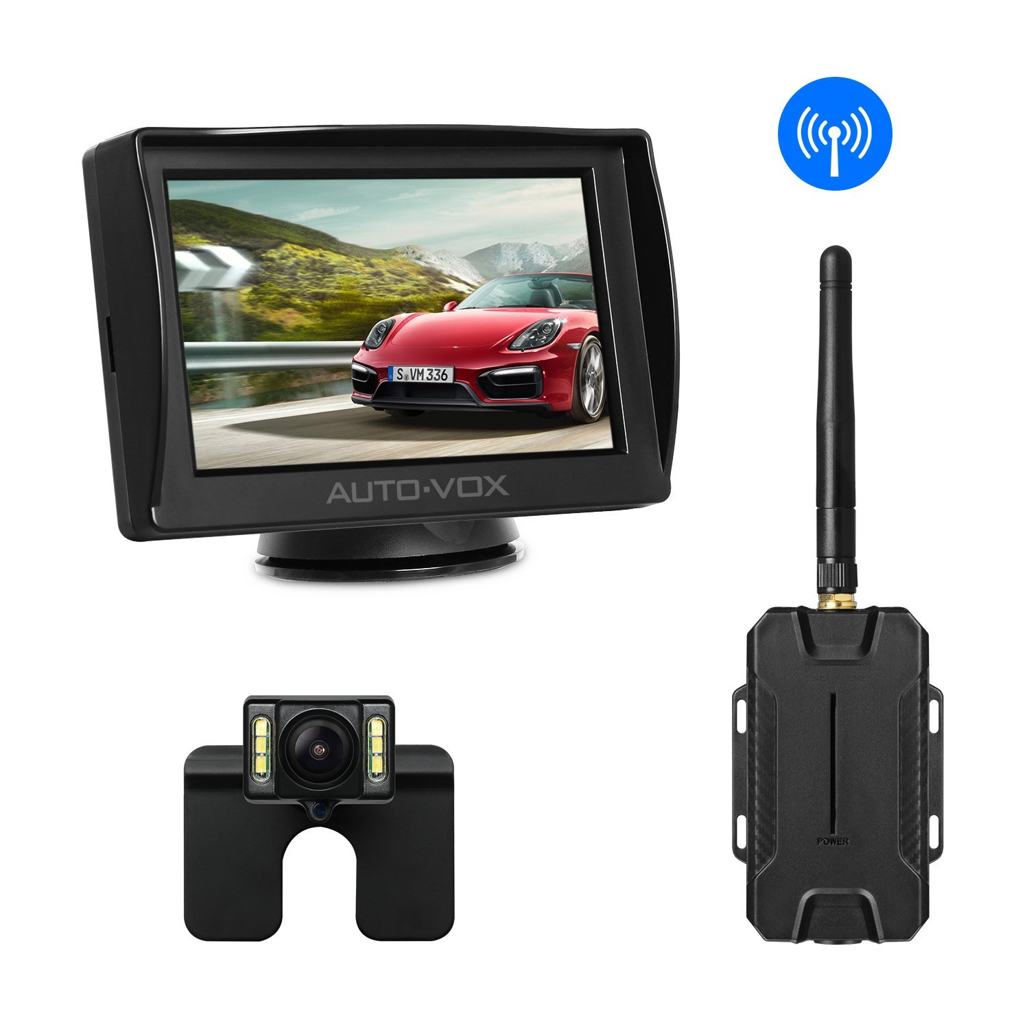Car Rear View Backup LCD Monitor Wireless Parking Night Vision Camera Kit MY