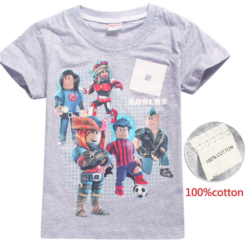 Hot ROBLOX Game Kids Boys T-shirts Top Outfit Costume tshirts 100/% Cotton Gift
