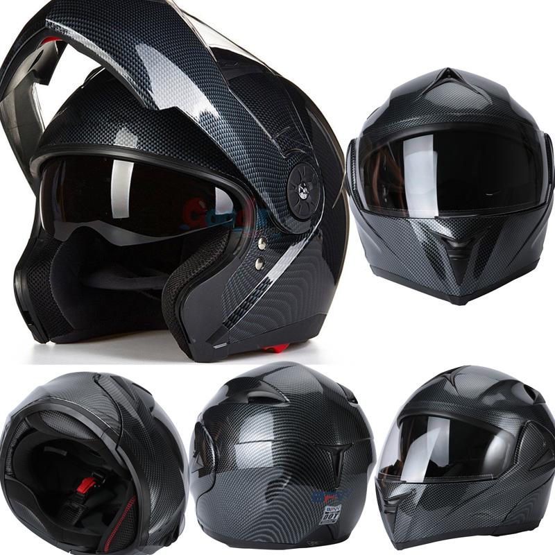 DOT Modular Helmet Flip Up Motorcycle Helmet Full Face Dual Visor Motocross Bike