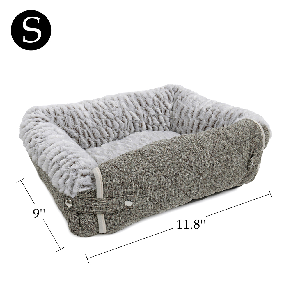 S M Size Pet Dog Cat Sofa Pv Cozy Sheepskin Fold Out Couch Chair Protector Grey Ebay