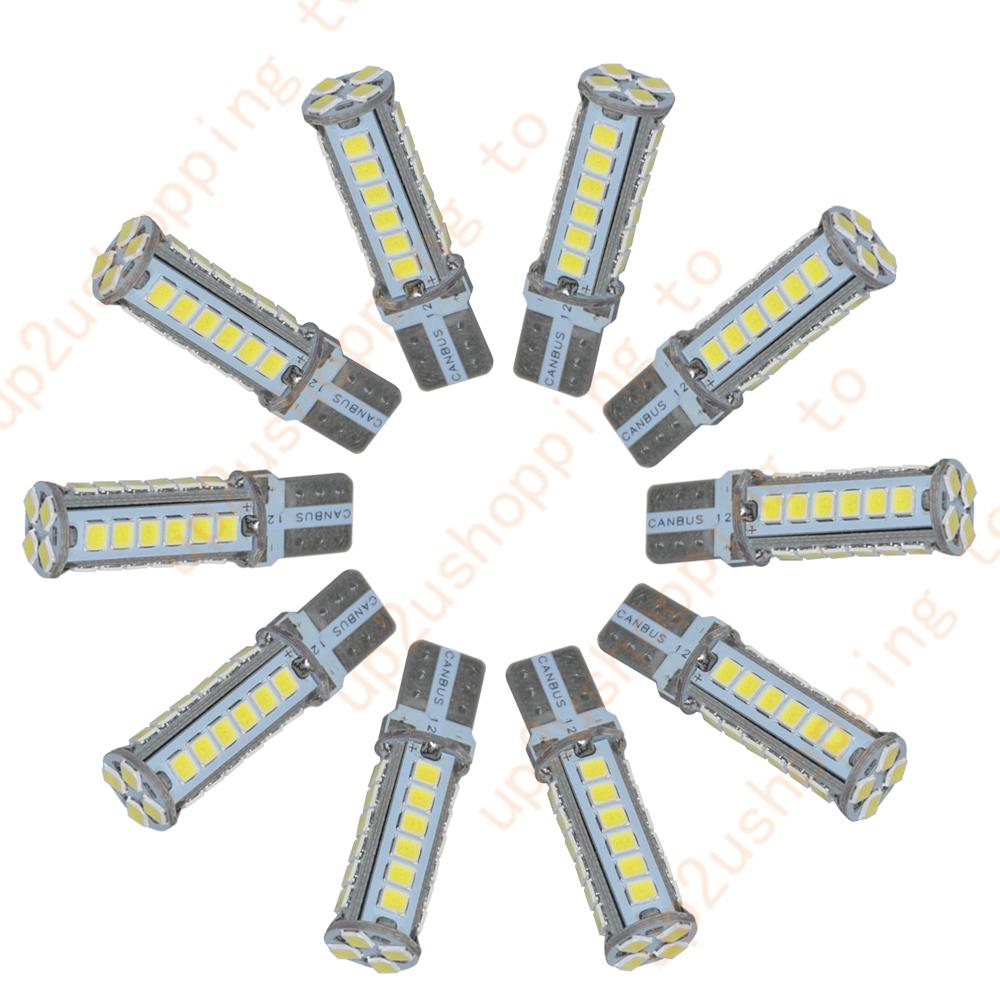 10 pcs Super White T10 10SMD LED Interior Light bulb W5W 2825 158 168 192 194