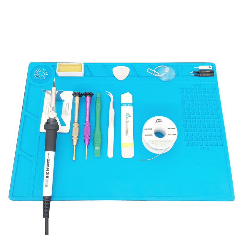 Heat Insulation Silicone Pad Desk Mat Maintenance Platform for BGA Soldering Rep