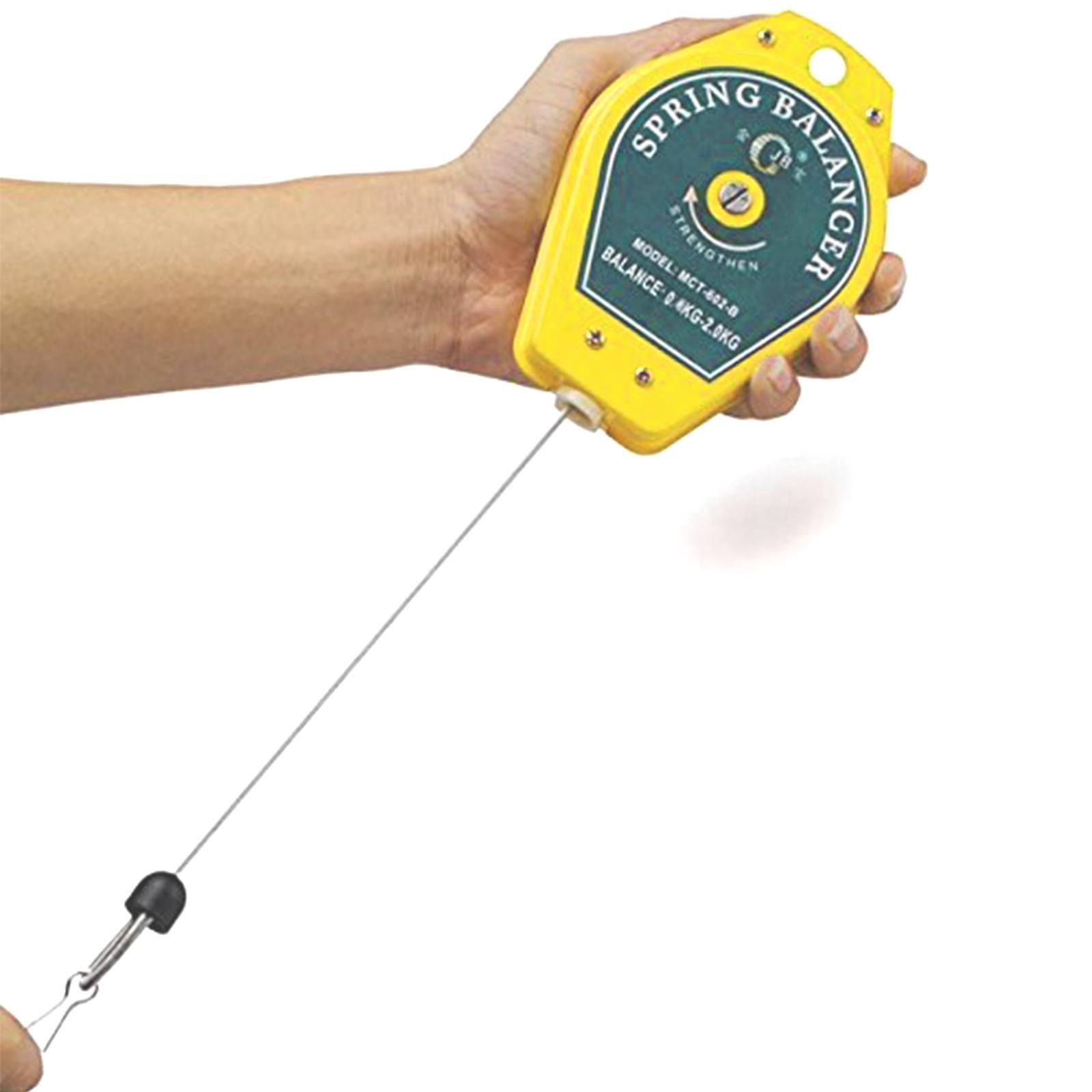 Retractable 0.6-2kg Range Spring Balancer Tool for Fixtures Holder Hanging