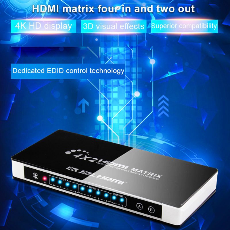 BSTUOKEY HDMI V1.4 Switcher HIFI 3 In 1 Out HDMI Audio Extractor Splitter With A