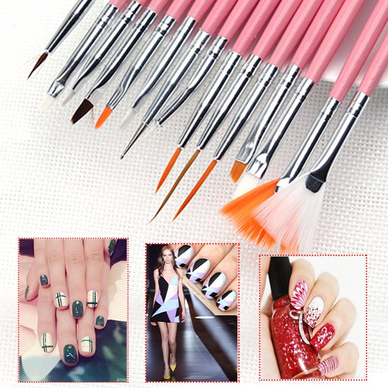 19 Suit Nail Art Supplies Brush Nail Painting Pen Tools Nail Design
