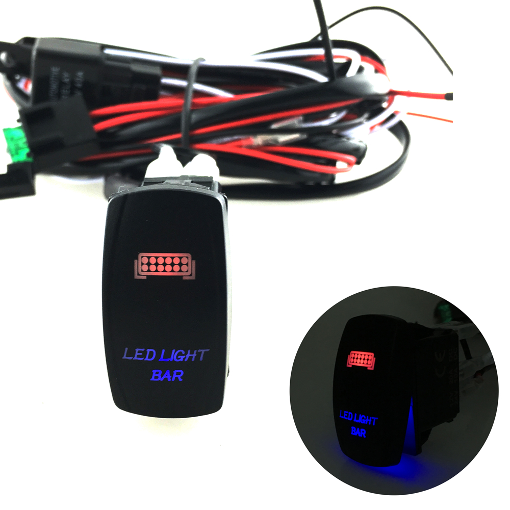 5 Pins Led Light Bar Driving Switch Relay Rocker Wiring Loom How To Wire A Toggle Harness 12v