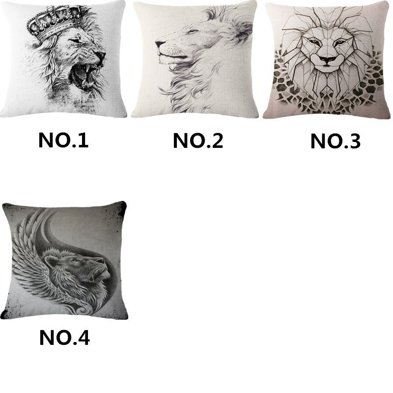 Roaring Lions Cotton Linen Throw Pillow Case Cushion Cover Home Decor 18 Nautical Home Décor Pillows Home Décor
