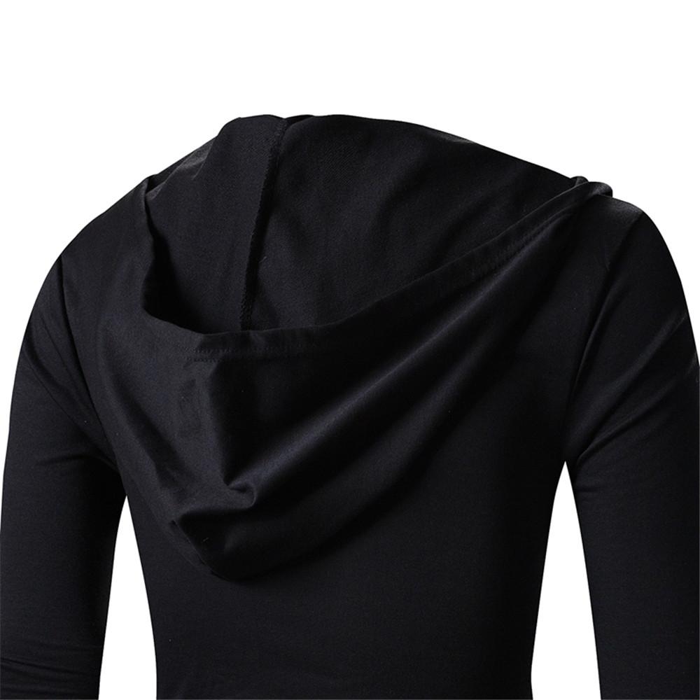 New Men Long Sleeve Turtle Cowl Neck BLACK HOODIE Scarf Shirt Top ...