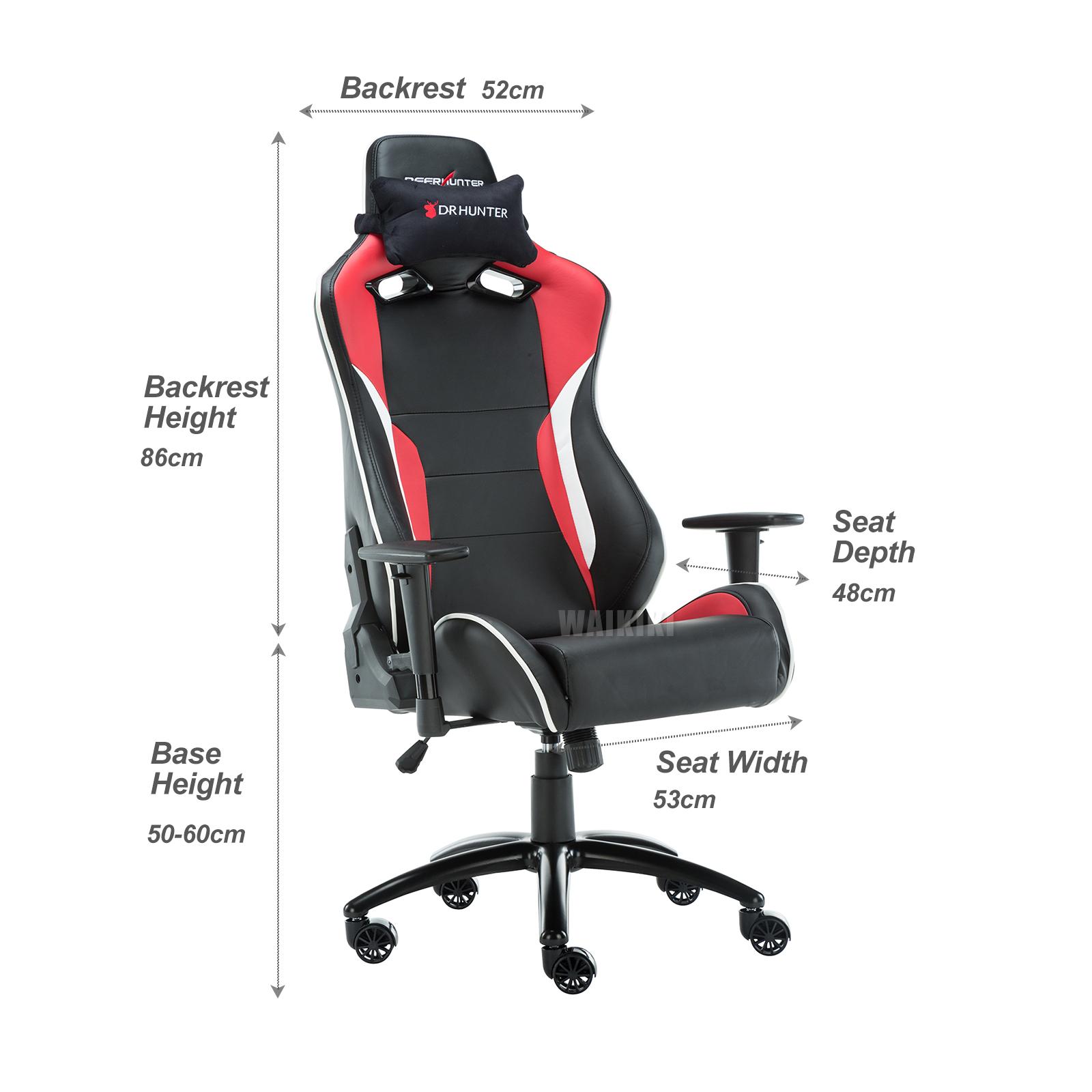 DEERHUNTER PU Racing Style Gaming Chair Ergonomic puter Seat