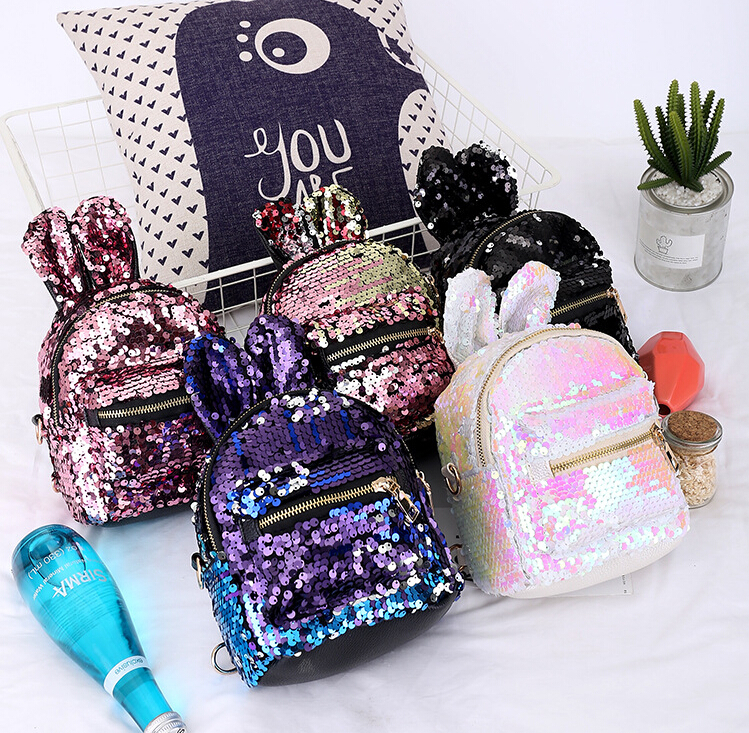 9d7c431af1a7 Details about UK Girls Sequins Backpack Glitter Bling School Travel  Rucksack Shoulder Bag