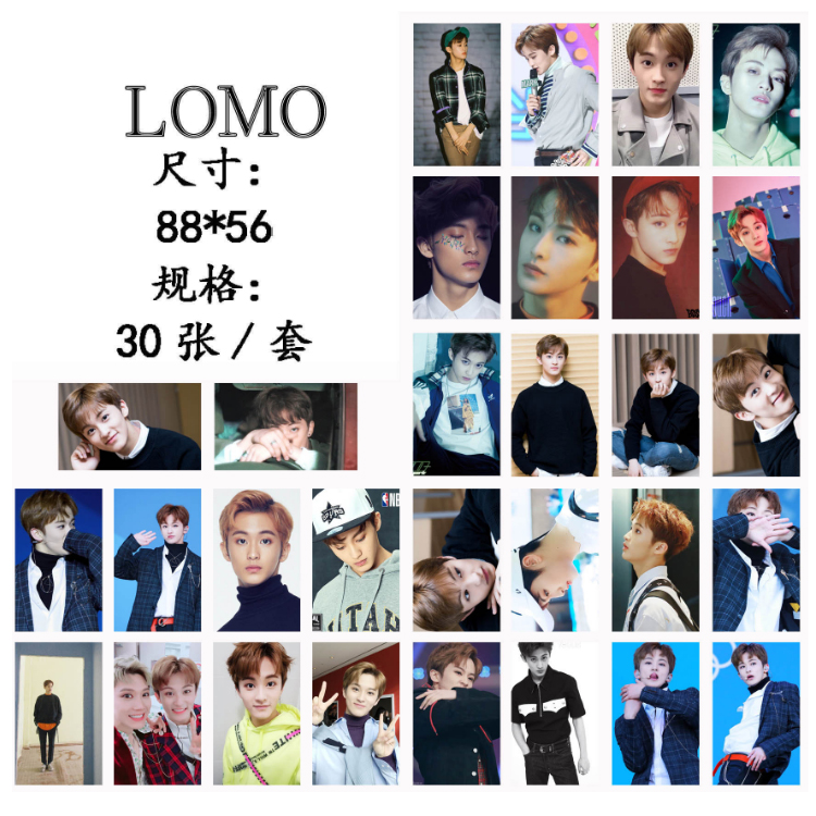 Details about 30pcs /set KPOP NCT127 NCT U MARK LEE Photo Card Poster Lomo  Cards
