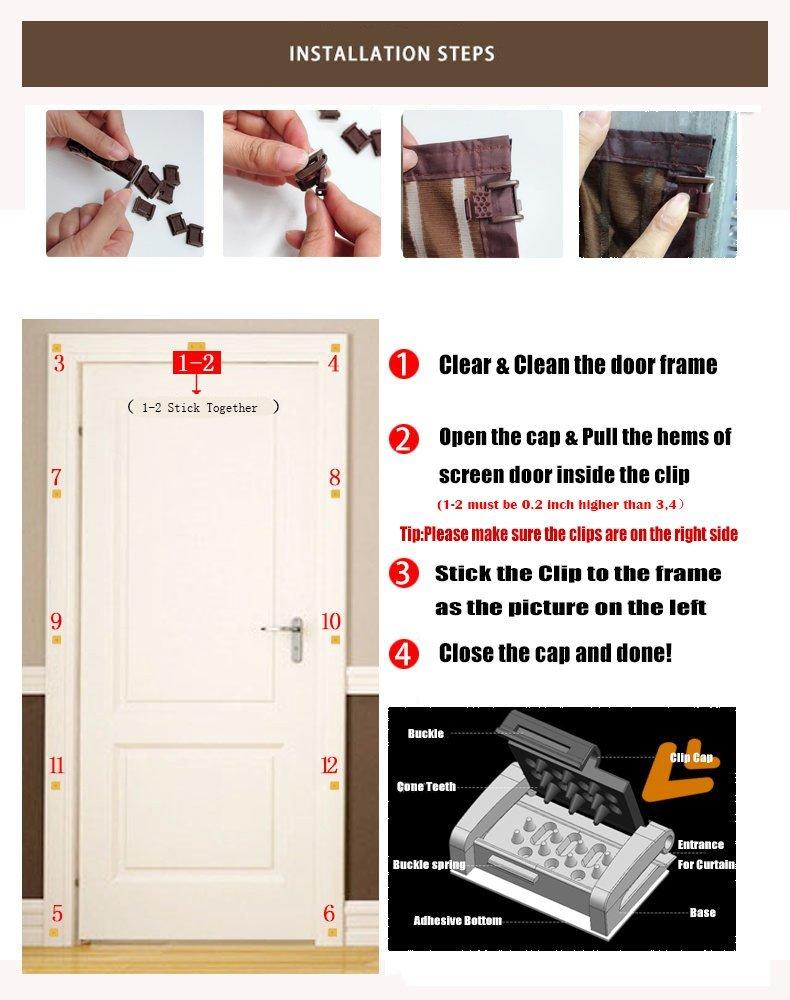 magnet fliegengitter t r insektenschutz fliegen vorhang klebstoff clip schwarz ebay. Black Bedroom Furniture Sets. Home Design Ideas