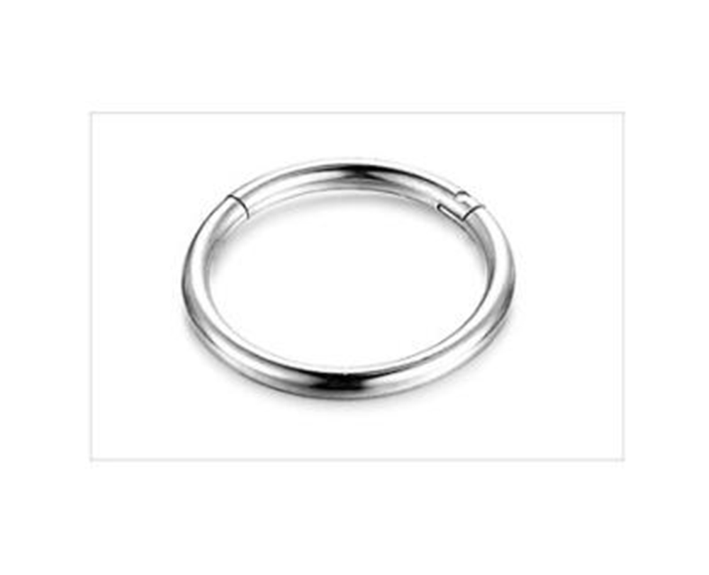 cecfd77d3653a2 You may also like. 8mm Titanium Nose Lip Earrings Hinged Clicker Septum  Ring Silver Hoop Sleeper