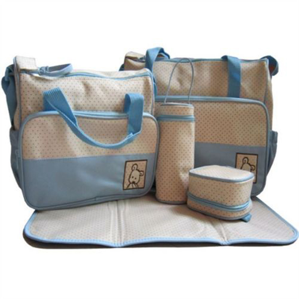 8ce30427c0 5pcs Multifunction Mommy Bags Set Baby Nappy Package Travel Pad ...