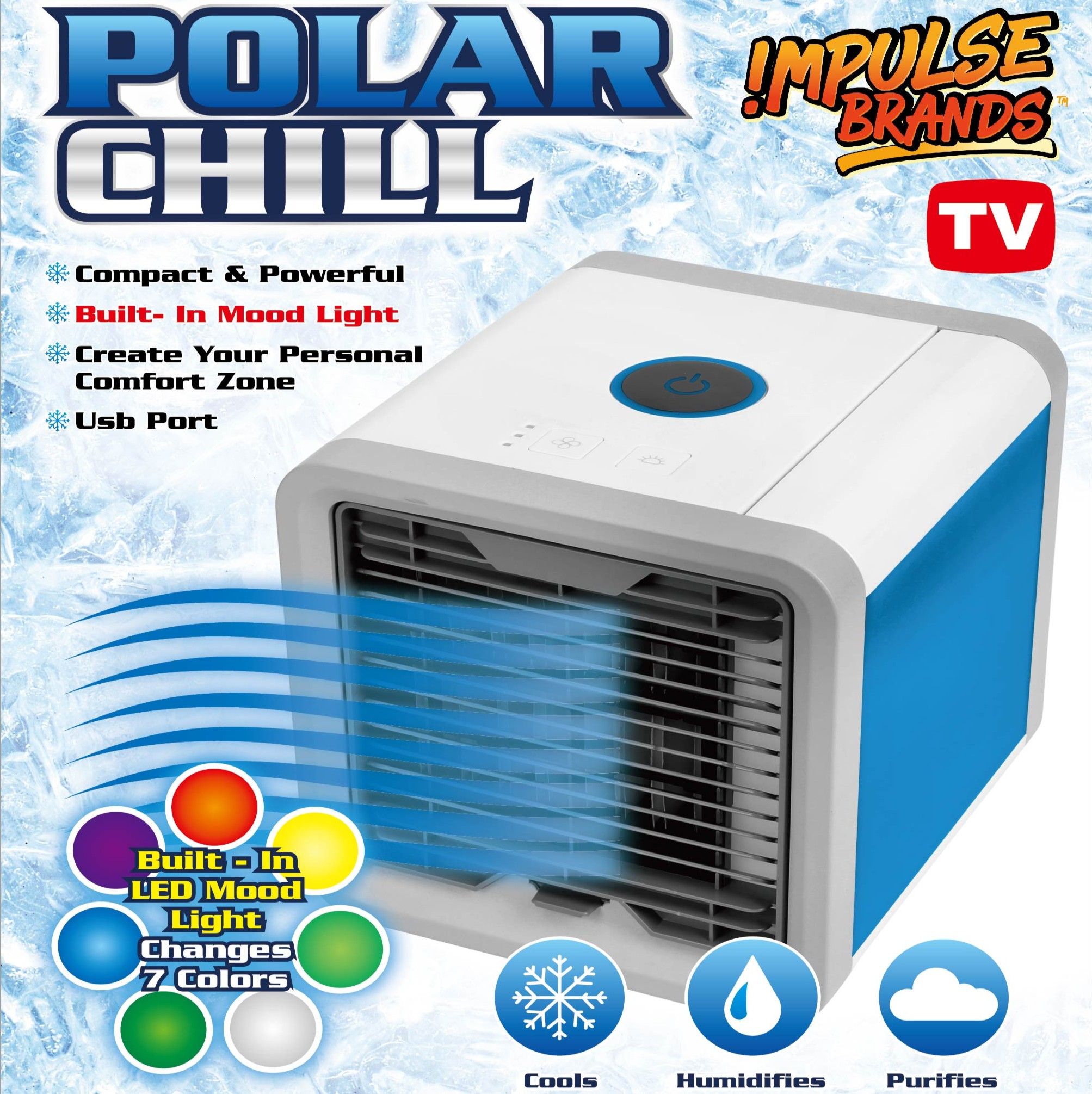 Mini Air Cooler Fan Portable Conditioner Ice Water Evaporative Humidifier Cold