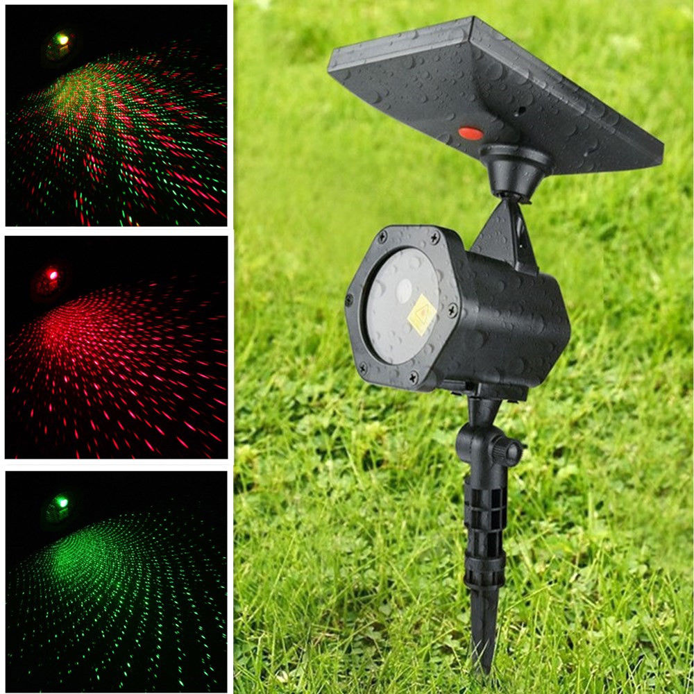 Solar Power R Amp G Led Laser Projector Light Indoor Outdoor