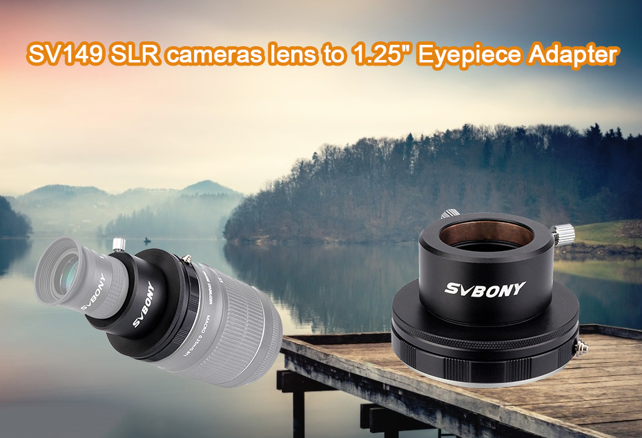 SVBONY SV149 Camera Lens Adapter for Canon DSLR Cameras Lens to 1.25 inch Eyepiece Adapter for Photography Guiding