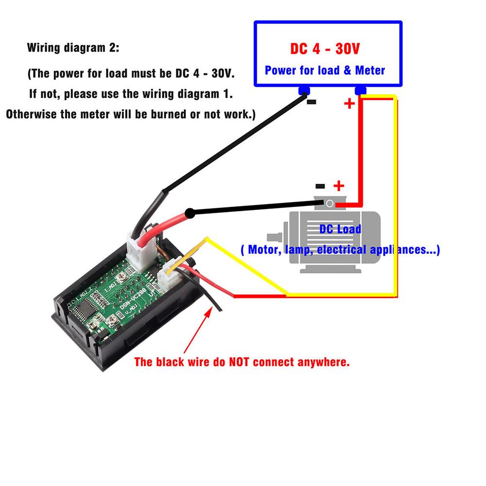 Mini Dc 100v 10a Digital Voltmeter Ammeter Blue Red Led Volt Amp Circuit Diagram With Meter Gauge Us