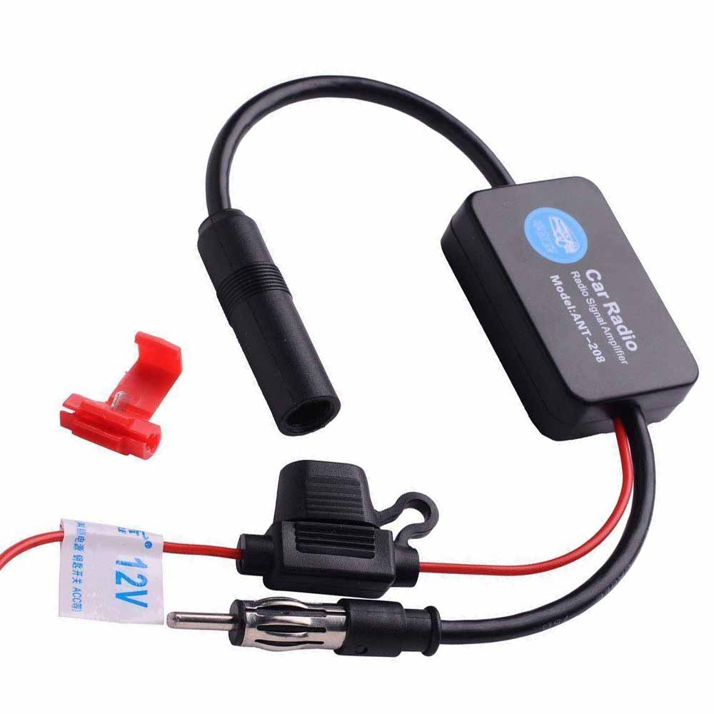 12v Car Antenna Stereo Radio FM /&Am inLine Signal Amp Amplifier Built-in Booster