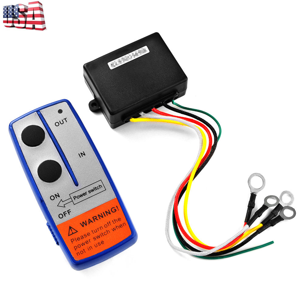 Details about 12V Electric Winch Wireless Remote Control System Switch For  Truck Jeep ATV SUV