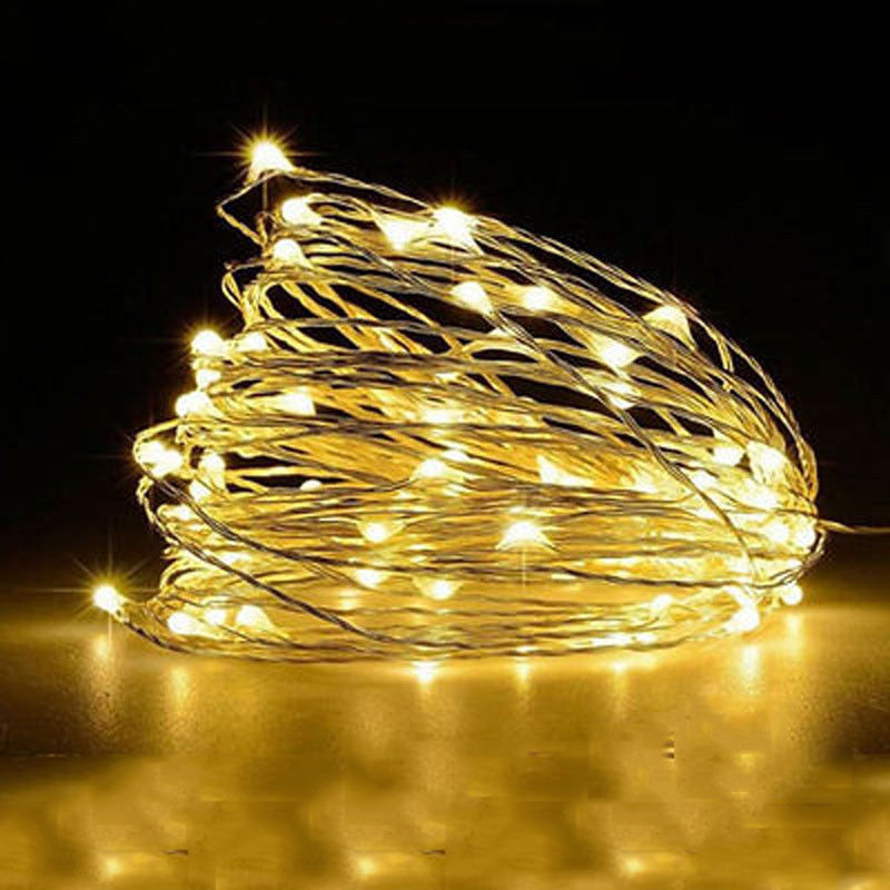 on sale 3e567 22abb Details about 10M 100 led Battery Power Timer LED Silver Fairy String  Christmas Lights Outdoor