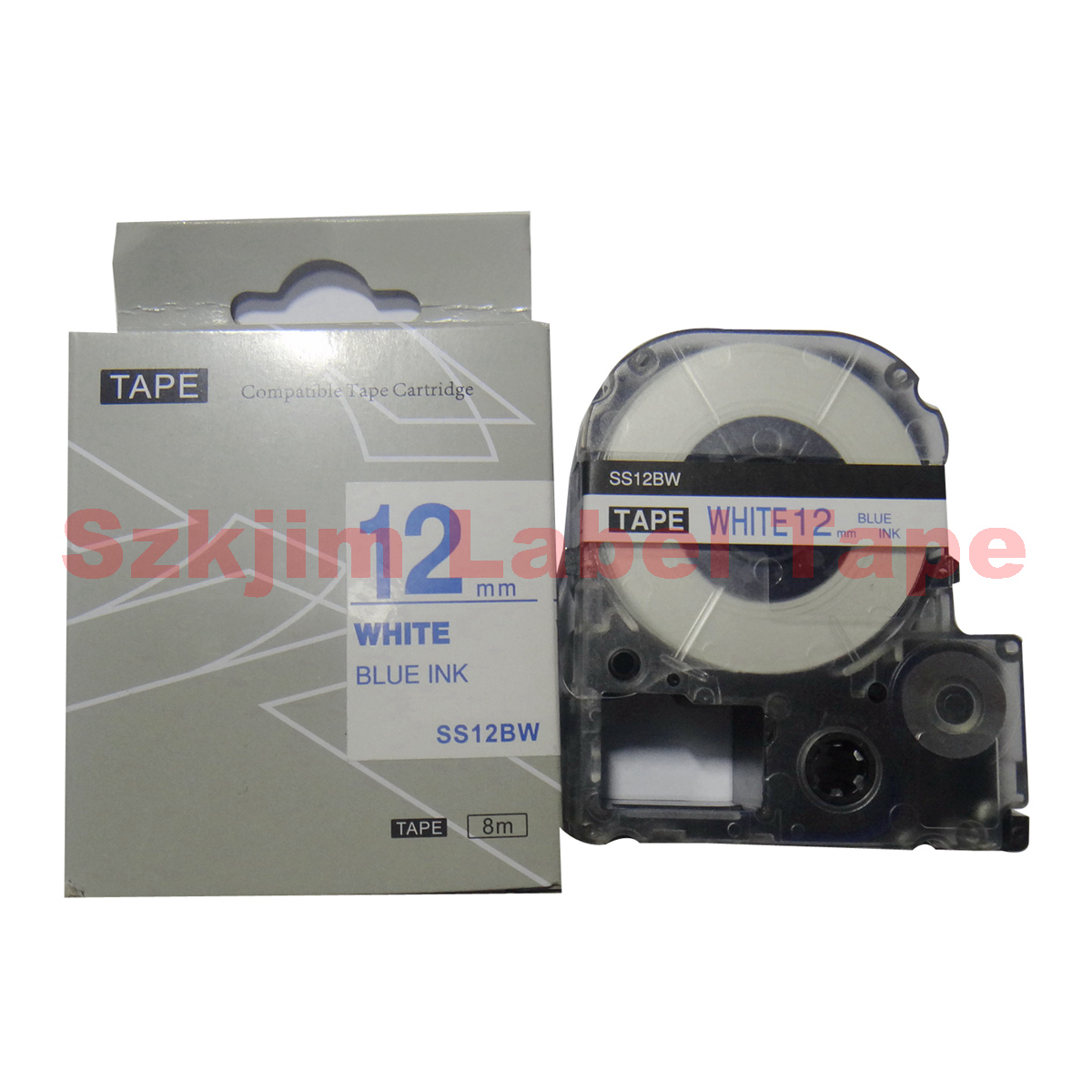 2X Compatible EPSON LC-2WBN Label Tape Black on white 6mm 8m lw300 lw400 lw600