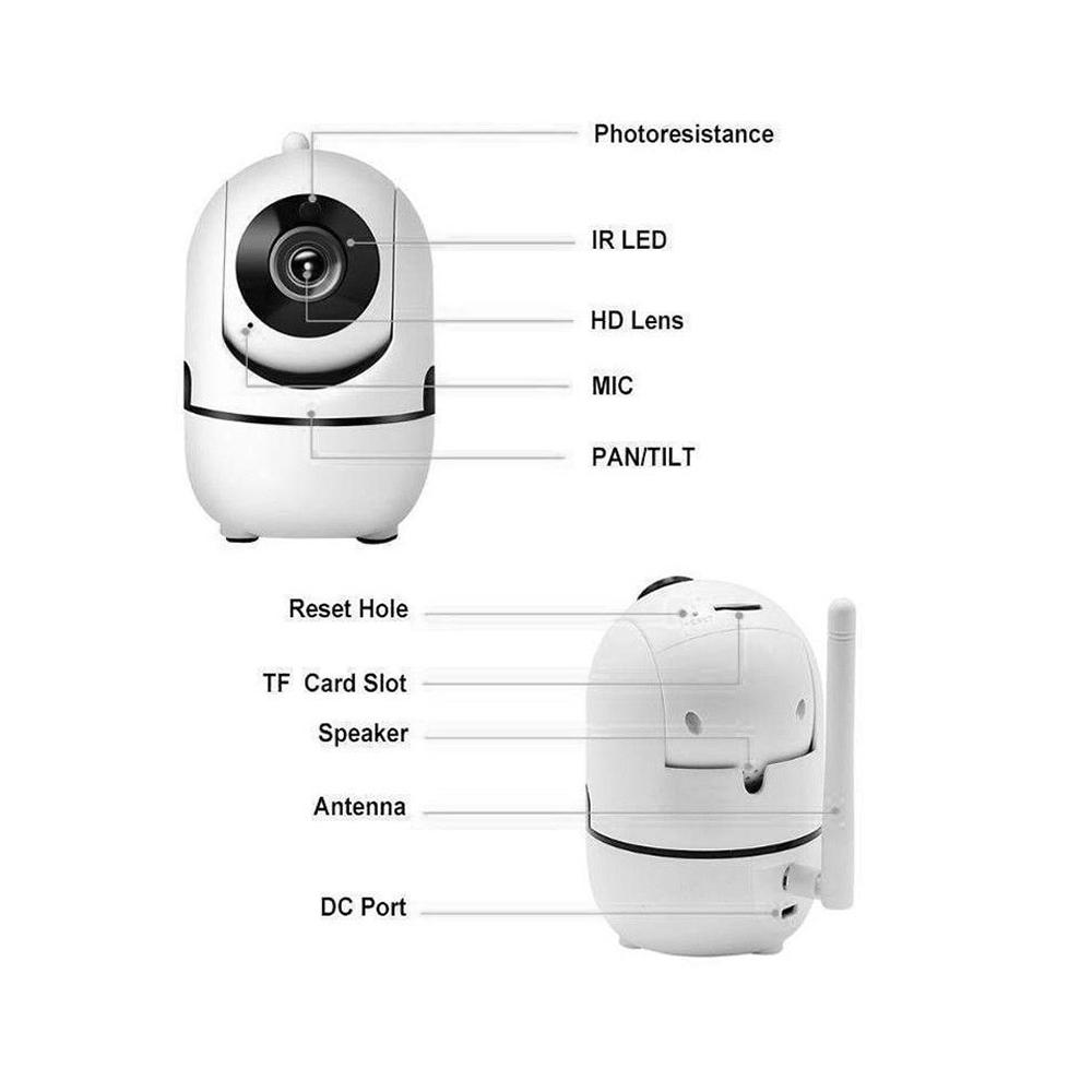1080P HD Wireless IP Camera Auto Tracking CCTV Camera For Alexa Home  Security