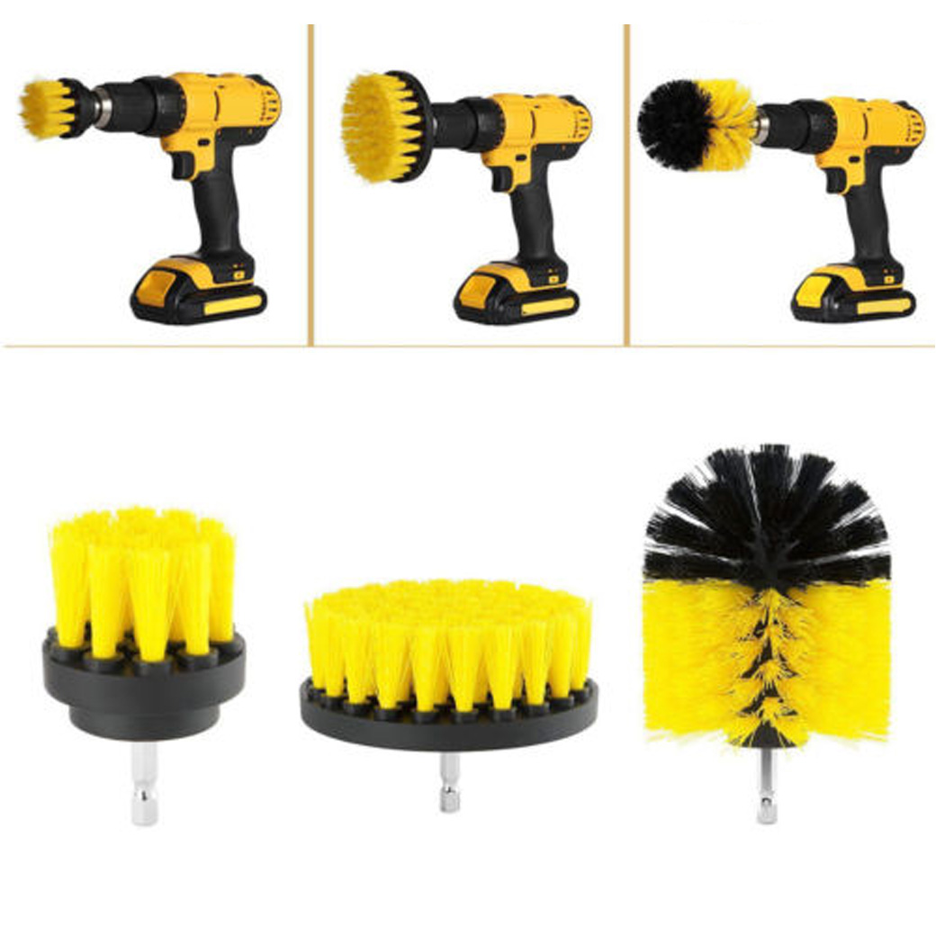 Tile Grout Power Scrubber Drill Brush Attachment Tub