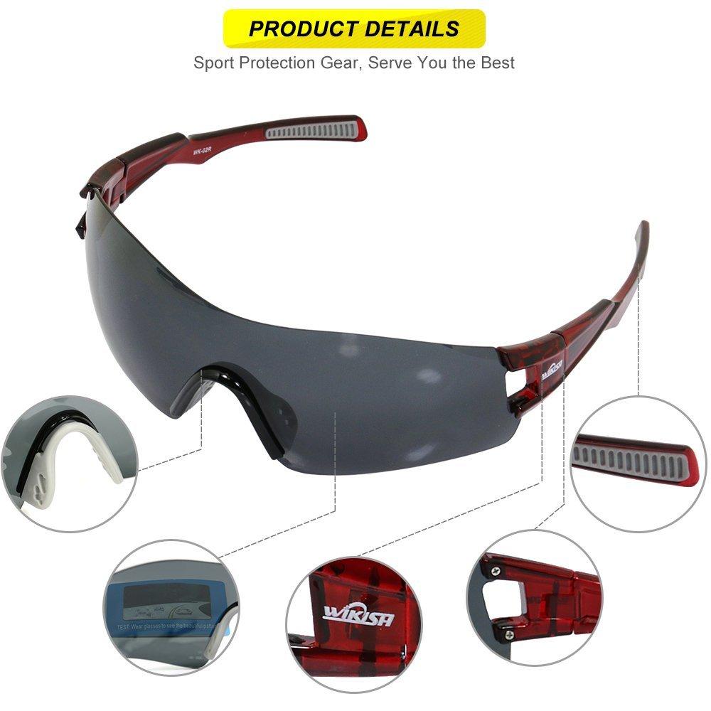 TAC 1.5 thick polarized gray Sports Fahrradbrille Sonnenbrillen für Golf UV400 bZROFEa