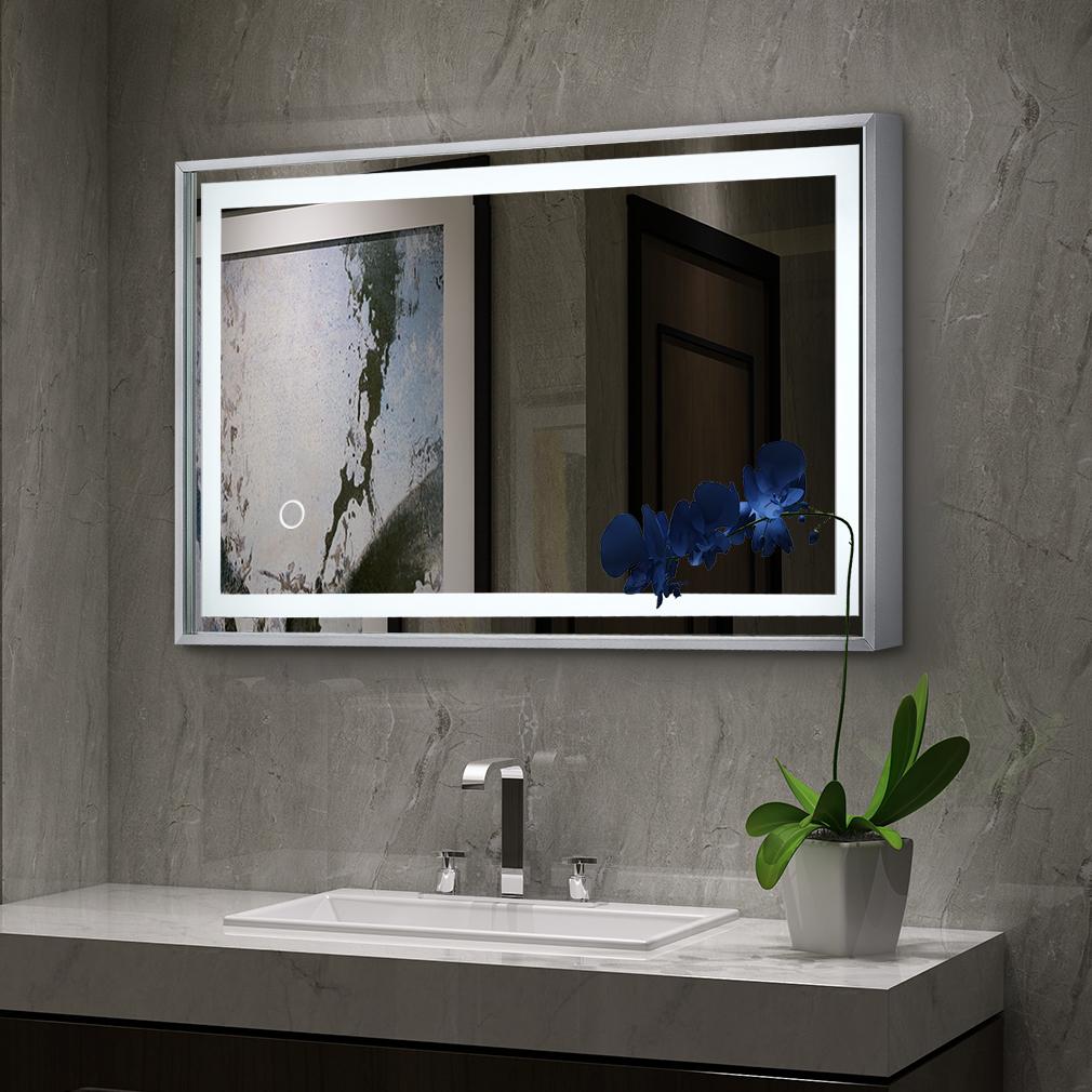 Badspiegel Mit Led Beleuchtung 60 X 80 Cm Touch