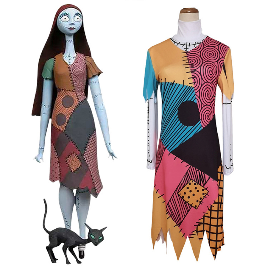 Nightmare Before Christmas Sally Girl/'s Disney Costume Fancy Dress Party Cosplay