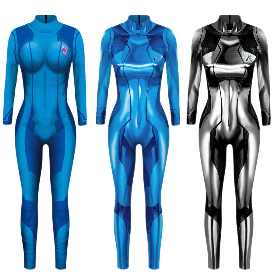 Details About Zero Suit Samus Cosplay Costume Metroid Samus Aran Bodysuit Zentai Cosplay 806