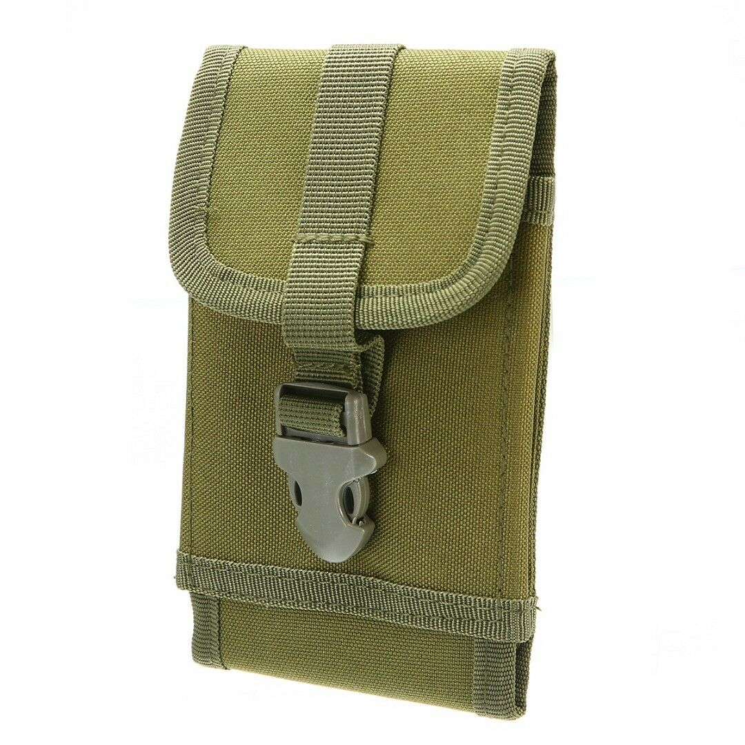 Universal Tactical Molle Cell Phone Pouch Bag Smartphone Case Cover Waist Pack
