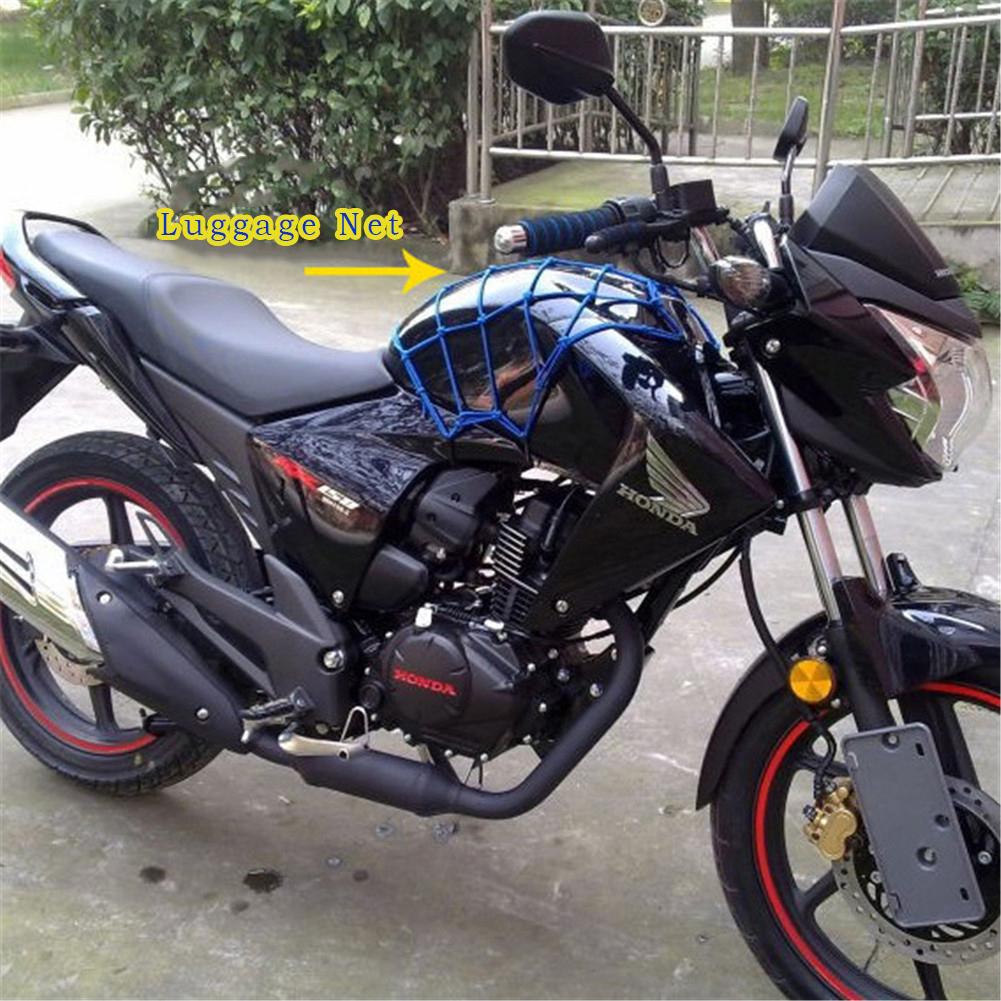 Motorcycle Helmet Net Bag Pocket Street Bike Fuel Tank Mesh