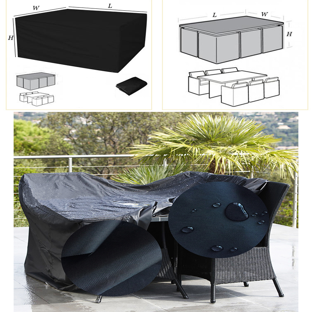 schutzh lle gartenm bel abdeckung abdeckplane sitzgruppe 420d oxford tuch ebay. Black Bedroom Furniture Sets. Home Design Ideas