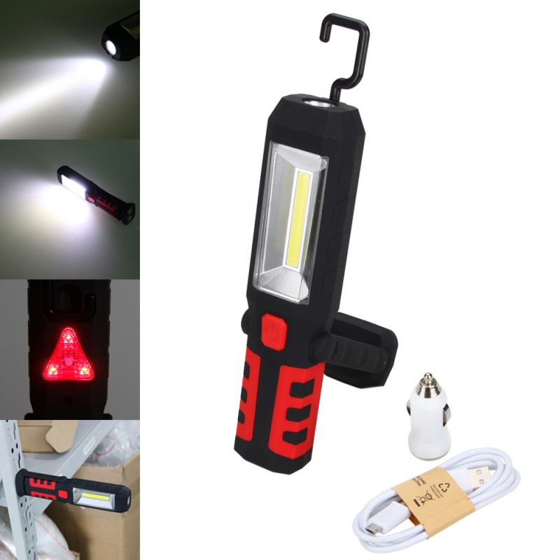 COB LED Magnetic WorkLight Torch Garage Mechanic Auto Car Outdoor Free Batteries