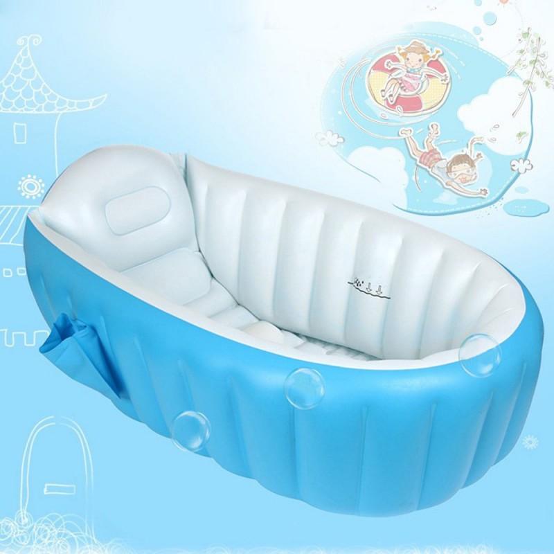 Inflatable Baby Bathtub Portable Swimming Pool Kid Infant Shower ...