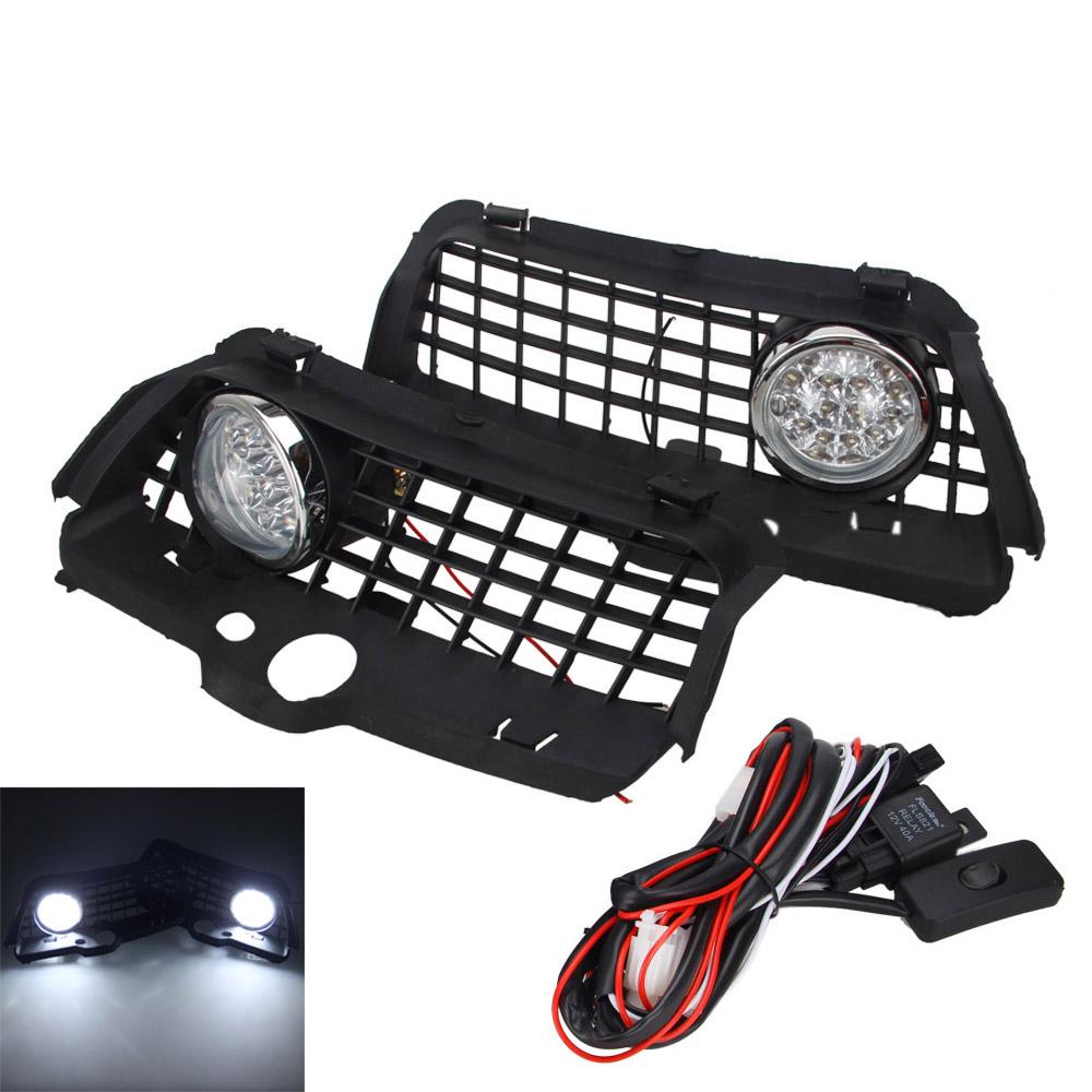 6000K Nebelscheinwerfer Licht LED Stoßstange Gitter For VW MK3 Golf ...
