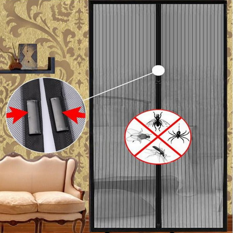 insektenschutz fenster magnet vorhang netz fliegengitter balkont r 120 210 cm ebay. Black Bedroom Furniture Sets. Home Design Ideas