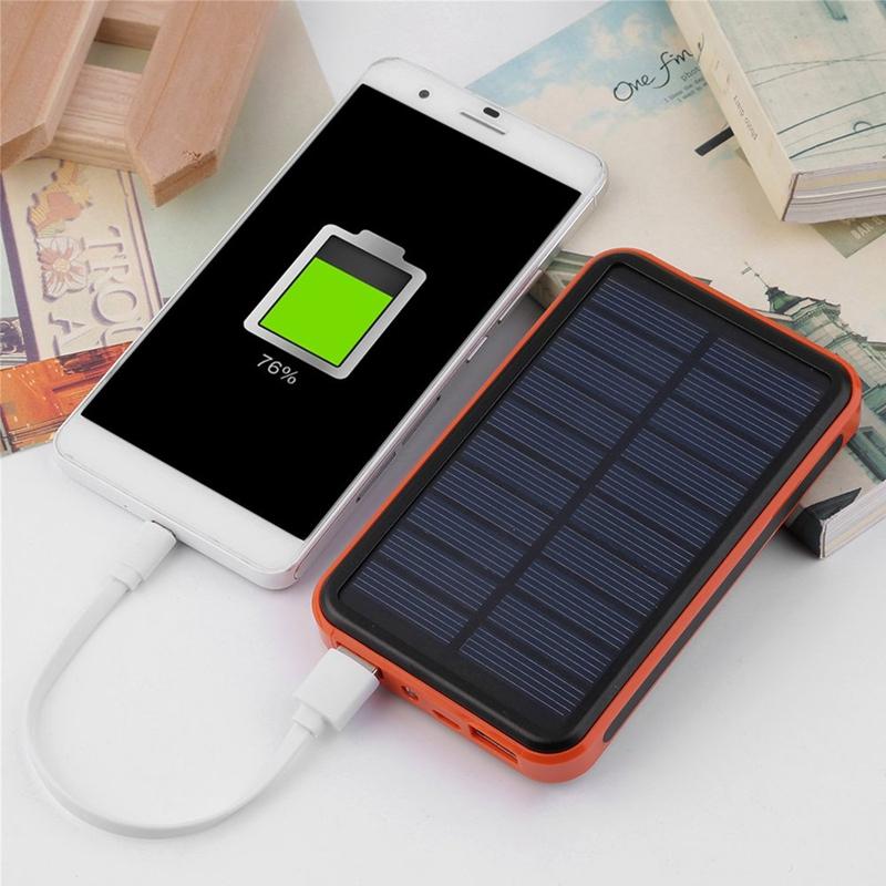 30000mAh Waterproof Portable Solar Power Bank Dual USB ...