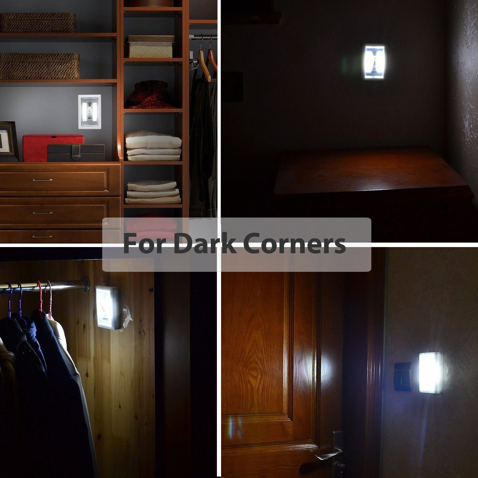 1X COB LED Cordless Switch Lights (batteries U0026 Screws Not Included)