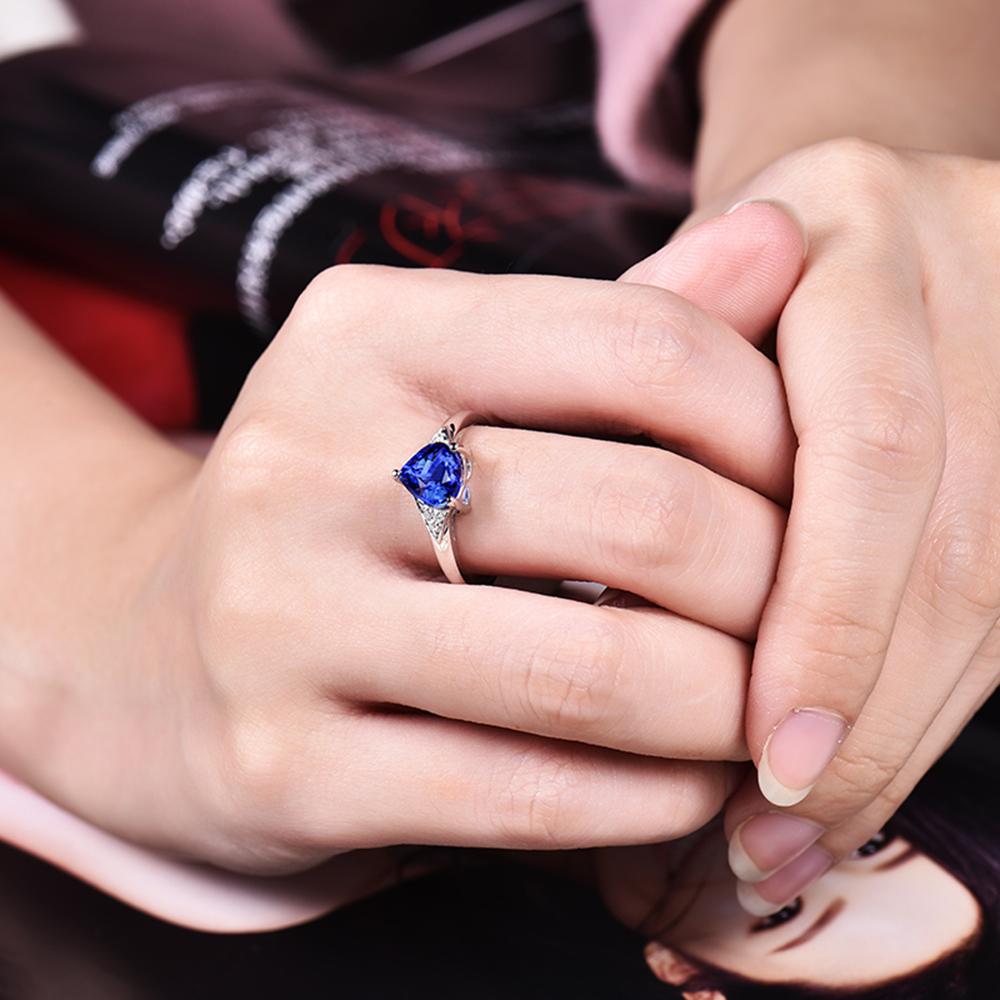 New Design 14kt White Gold Diamonds Wedding Heart Shape 7mm ...