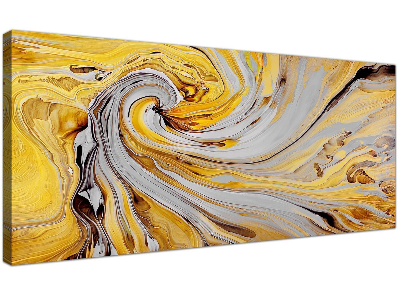 HD Large Abstract Yellow Wall Art Prints Canvas Wall Art Print ...