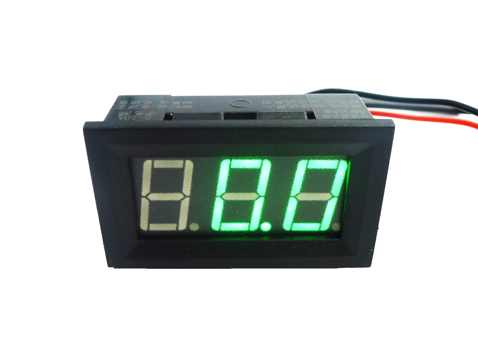 Digital Amp Meter Panel : Green led digital panel amp meter gauge 0 50a & shunt 751195416670