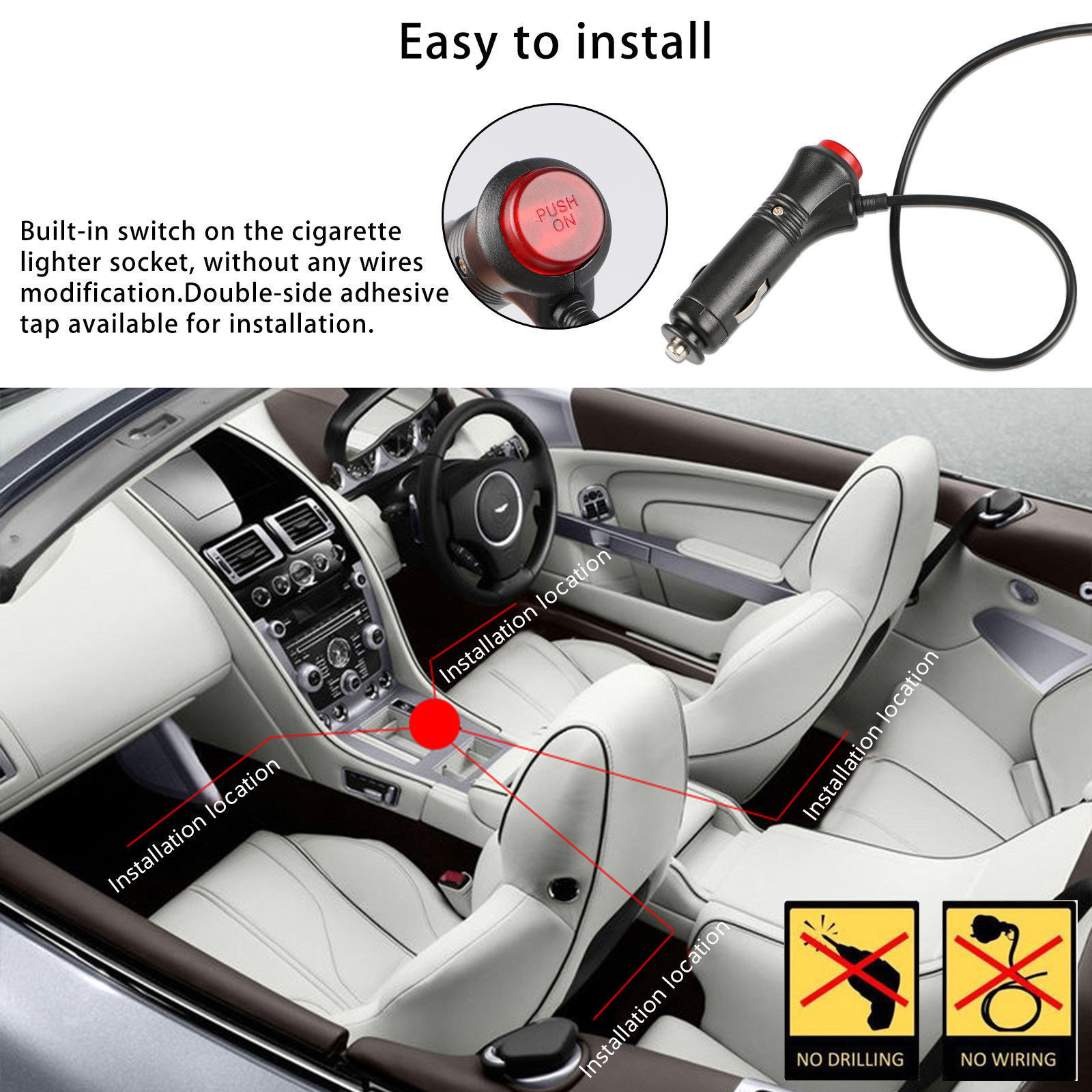 4x 12 Led Rgb Car Interior Floor Neon Light Strip Atmosphere Lamp Wiring A Switch Remote Control
