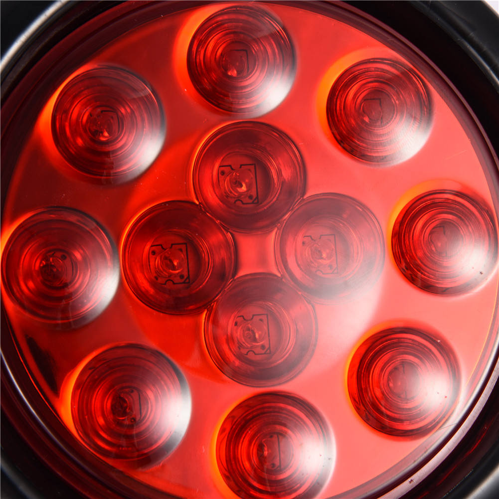 4 Red 4 U0026quot  Round Led Clearence Light Side Marker Indicators